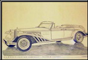 In 1986 Alfred DiMora worked on a concept car to be called the Paxson for Miami Clenet dealer Bud Paxson. It was to be a 4-door, suicide door, 4-seat convertible.